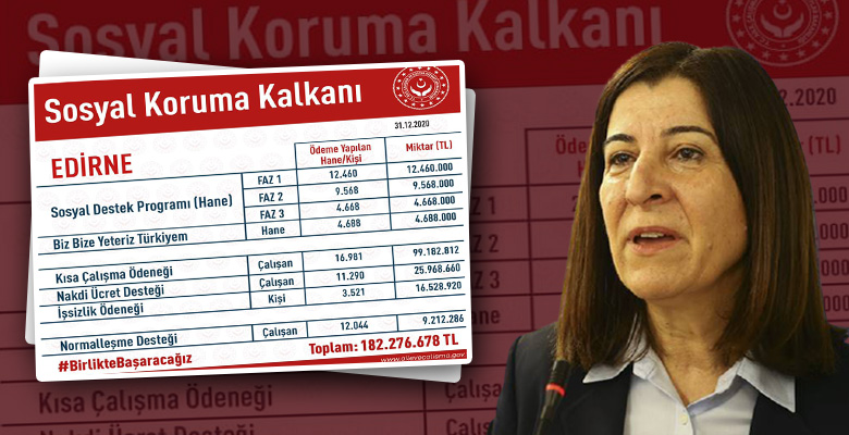 Edirne'ye 182 milyon lirayı aşkın destek