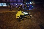 """Polisin """"dur"""" ihtarına uymadı… Kaza yaptı!"""