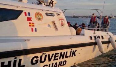 Yelkenli teknede 37 düzensiz göçmen yakalandı