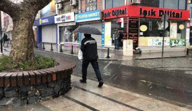 Çorlu ve Ergene'de kar yağışı
