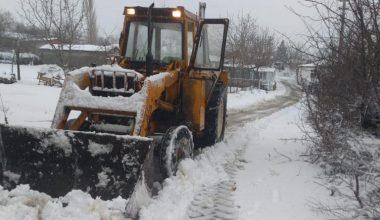 Edirne'de karla mücadele