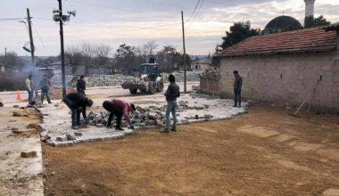 Süloğlu'nda yol çalışması