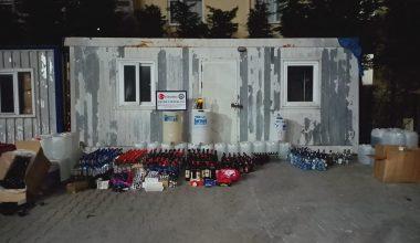 İstanbul'da 1400 litre kaçak içki ele geçirildi