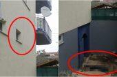 Polis merkezinin penceresinden kaçmaya çalışan şüpheli yaralandı
