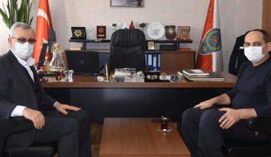 Başkan Helvacıoğlu'ndan Emniyet Müdürü Tekin'e ziyaret