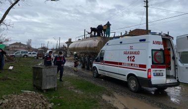 Akaryakıt tankerine kaynak yapılırken meydana gelen patlamada 3 işçi yaralandı