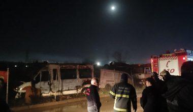 Araç hurdalığında çıkan yangın söndürüldü