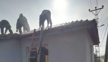 Yangın maddi hasara neden oldu!