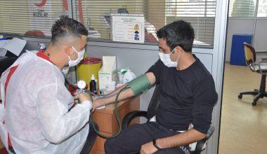 AFAD ve emniyet personelinden farkındalık için kan bağışı