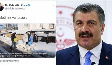 """Sağlık Bakanı Koca aşı olan """"Selim dede""""nin duygu dolu görüntülerini paylaştı"""