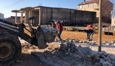 Süloğlu'nda yol yapım çalışmaları…