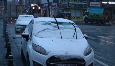 Tekirdağ'da kar yağışı…