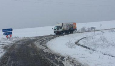 Edirne'de kar yağışı etkili oldu!