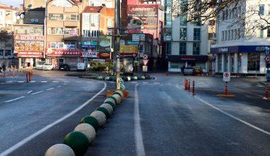 Cadde ve sokaklarda sessizlik