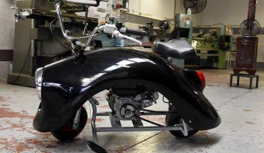İki arkadaşın ürettiği motosikletin tasarımı dikkat çekiyor