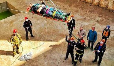 İnşaat temeline düşen işçiyi AFAD ve itfaiye kurtardı