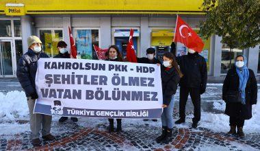 Edirne'de 13 şehit için, PKK'ya tepki!