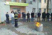 Milli Eğitim personeline yangın söndürme eğitimi