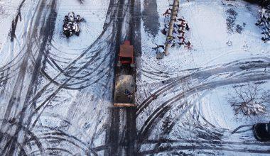 Hayrabolu'da karla mücadele çalışması