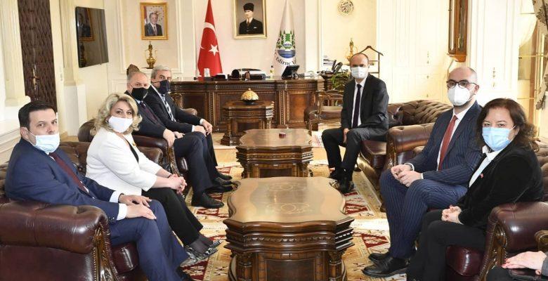 Kosova'daki Türk Partisi Genel Başkanı Damka, Vali Canalp'i ziyaret etti