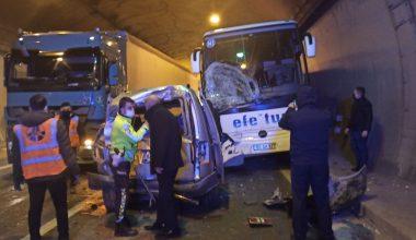 5 aracın karıştığı zincirleme trafik kazası