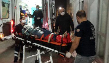 Kocaeli'de polisten kaçarken duvardan düşen kişinin ayağı kırıldı