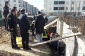 İnşaatta düşen inşaat işçisi yaralandı
