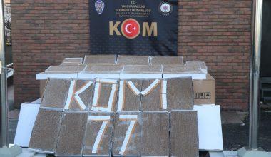 Osmangazi Köprüsü'nde durdurulan kamyonette 1 milyon 300 bin makaron ele geçirildi
