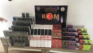 Tekirdağ'da gümrük kaçağı 108 cep telefonu ele geçirildi