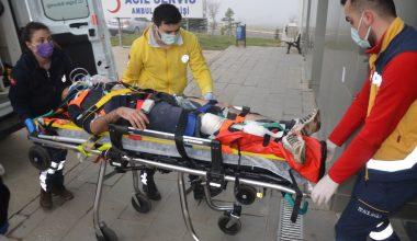 Malkara'da zincirleme kaza! 2 işçi yaralandı