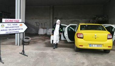 Ticari taksiler dezenfekte edildi