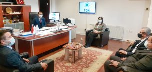 İba ve AK Partili belediye başkanları, TOKİ Başkan Yardımcısı Baştürk'ü ziyaret etti