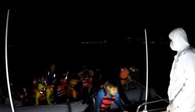 Yunan sahil güvenliğinin geri ittiği 82 sığınmacı kurtarıldı