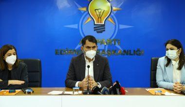 Bakan Kurum, AK Parti İl Başkanlığı'nda partililere seslendi