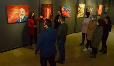"""""""Düşmeyen Cephe Çanakkale"""" resim sergisi açıldı"""