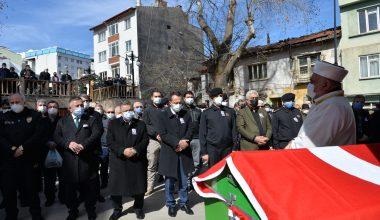 Kıbrıs gazisi törenle toprağa verildi