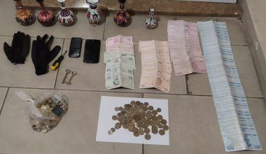 Sadaka kutusundan para çalan şüpheliyi caminin imamı yakaladı