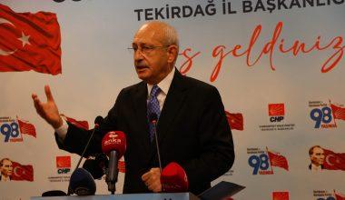 Kılıçdaroğlu, siyasi partilerin, demokrasilerin vazgeçilmez unsurları olduğunu vurguladı