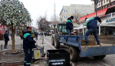 Edirne'de banklar geçici olarak kaldırıldı!