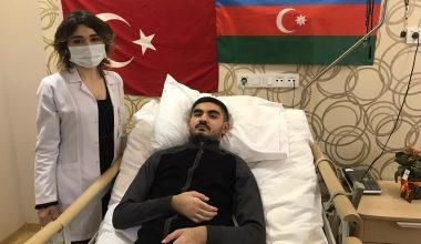 Havan saldırısında yaralanan Azerbaycanlı gazi Türkiye'de şifa arıyor