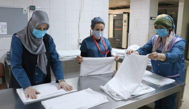 """Hastanelerde hijyenin görünmez kahramanları """"kadın görevliler"""""""