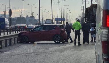 3 aracın karıştığı zincirleme trafik kazasında 1 kişi yaralandı