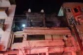 Kıraathanede tüpün patlaması sonucu hasar oluştu