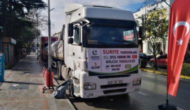 Suriye'ye 2 tır gıda yardımı
