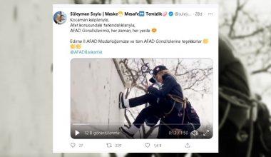 """Bakan Soylu """"Edirneli minik AFAD gönüllülerinin"""" klibini paylaştı"""