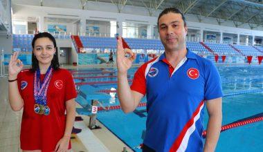 Su altından iki Türkiye rekoru çıkaran Sude Fidan'ın hedefi, dünya şampiyonası