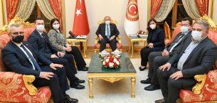 TBMM Başkanı Şentop, Aksal ve Edirneden gelen heyeti kabul etti