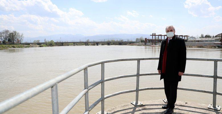 ADASU HES önündeki gölet temizleniyor