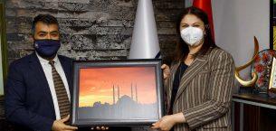 Başkan İba'dan AA Edirne Bölge Müdürü Baran'a ziyaret
