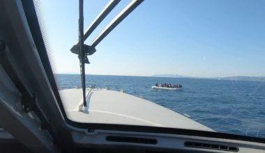 Türk kara sularına geri itilen 55 sığınmacı kurtarıldı